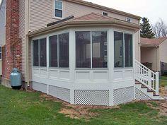 enclosed porch window ideas | Premier Vinyl Porch Enclosure System