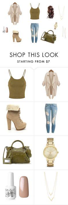 """Fall Outfit"" by taviaaaaa on Polyvore featuring Glamorous, Frame Denim, Balenciaga, Kate Spade, Jennifer Zeuner and Diane Kordas"
