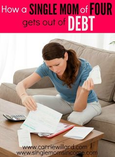 Getting out of debt on your own is hard to do but is possible. Carrie Willard shares her story of how she, as a single mother to four, was able to get out of debt. Very inspiring!