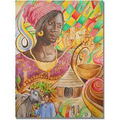 Trademark Fine Art Fulani Beauty Canvas Wall Art by Djibrirou Kane, Size: 24 x 32, Multicolor