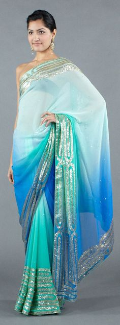 Tonal Saree with Banded Sequins