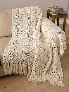 Ravelry: Irish Lace Blanket pattern by Patons