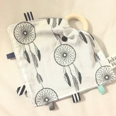 Dream catcher  Teething Taggie - Perfect Baby Shower Gift! by LukaMish on Etsy https://www.etsy.com/au/listing/281270758/dream-catcher-teething-taggie-perfect