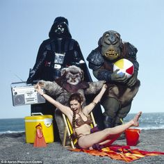 Juxtapoz Magazine - Carrie Fisher's Rolling Stone Beach Shoot