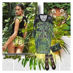 """""""Jungle Diva"""" by stylepersonal ❤ liked on Polyvore"""