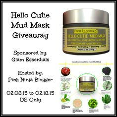 Hello Cutie Mud Mask Giveaway