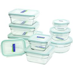 Glasslock 18-Piece Assorted Oven Safe Container Set 9 containers $33 (amazon)
