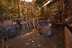 Blacksmiths, via Flickr. - I could really have some fun in that place!