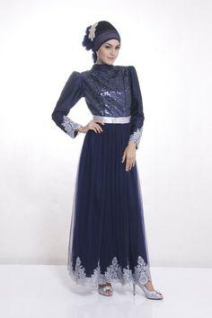 Model Busana Gaun Pesta Muslim Mewah Hijab Fashion