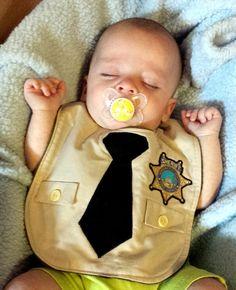 Custom Little Sheriff Deputy Police Officer Bib by DebbieDoesThat, $22.00