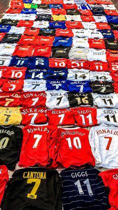 Manchester United shirt collection😍😍😍😍😍 Manchester United Old Trafford, Manchester United Shirt, Manchester United Wallpaper, Manchester United Legends, Fifa Football, Football Uniforms, Football Kits, European Football, Soccer Shirts