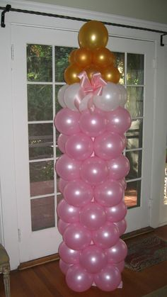 Cute idea for a baby shower. Just change the color for a boy.