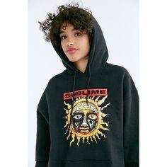 Sublime Sun Hoodie Sweatshirt ($59) ❤ liked on Polyvore featuring tops, hoodies, logo top, urban outfitters hoodie, hooded sweatshirt, long sleeve hoodie and sweatshirt hoodies