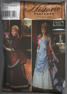 Costume Pattern Dress Victorian 1880s Sewing by creekyattic, $7.00