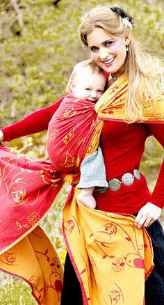 kokadi babywrap Feuervögel - 100% cotton - kokadi - Babytragetücher