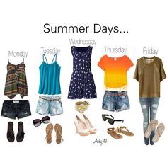 summer days -ag, created by abbylynng11 on Polyvore
