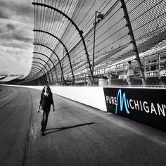 The race track at Michigan International Speedway (MIS) during the Pure Michigan 400