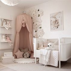 Lovely Lavender Fairytale Girl's Bedroom — Decor For Kids Baby Nursery Decor, Baby Bedroom, Baby Boy Rooms, Baby Decor, Nursery Room, Girls Bedroom, Girl Toddler Bedroom, Coral Nursery, Nautical Nursery