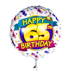 65th Birthday Balloon DeliveryBirthday Gift