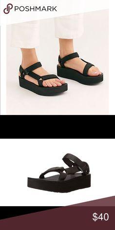 2a09be0794ca Black Teva Flatform Sandal Super cute and comfortable.