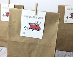Gastgeschenke - Mitgebseltüten Kindergeburtstag Feuerwehr Motiv - ein Designerstück von Deingastgeschenk bei DaWanda