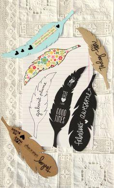 patron plume Diy Crafts Hacks, Diy Crafts For Gifts, Diy Home Crafts, Diy Arts And Crafts, Crafts For Kids, Creative Bookmarks, Cute Bookmarks, Bookmark Craft, Creative Crafts