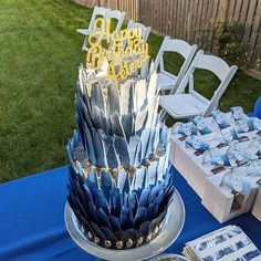 """NJ Kids' Party Planner on Instagram: """"Check out this amazing cake from @carolynscustomcakes ! I told her I wanted a wow cake in a shades of blue theme and this was her brain…"""" Kids Party Planner, Shades Of Blue, Amazing Cakes, Affair, Brain, Children, Desserts, Check, Instagram"""