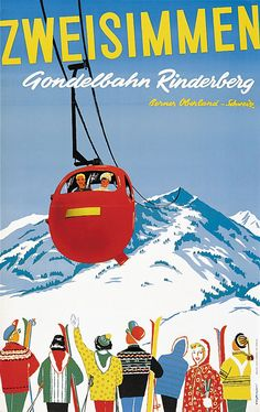 Grossniklaus / Zweisimmen - Gondelbahn Rinderberg / 1956