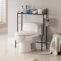Shop Simple Living Space Saver On Sale Free Shipping Today Overstock 6649964 White Bathroom Storage Shelves Over The Toilet Rack Toilet Storage
