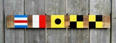 Custom personalized nautical flag sign    by TheBarefootSyndicate