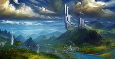 random nameless landscape by Runolite on DeviantArt Civilization Beyond Earth, Aquarium, Deviantart, Landscape, Random, Inspiration, Goldfish Bowl, Biblical Inspiration, Scenery