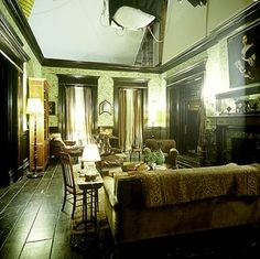 The long living room of the practical magic house.