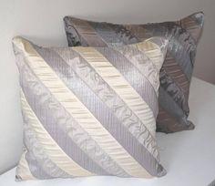 Striped Pillow Cover, Striped Throw Pillow Covers, Beige Throw Pillows, Gray Striped Pillow, Beige Striped Pillow, 18x18 Decorative Pillow