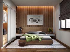 abgehängte Decke und indirekte Beleuchtung im Schlafzimmer