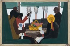 Jacob Lawrence, They arrived in Pittsburgh, one of the great industrial centers of the North, in large numbers. (1941).