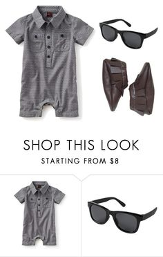 """Grey Patterned Romper"" by babiesswardrobe ❤ liked on Polyvore featuring Mont Blanc, men's fashion and menswear"
