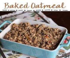 Looking for a hearty, healthy and delicious breakfast idea that will feed a lot of people? Baked Oatmeal is your answer. This recipe is my #1 most requested by anyone who tries it. Trust me, you'll never go back to plain oats after this!