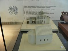 Models of Špitálky and Na Valech churches (9th century, Great Moravia)