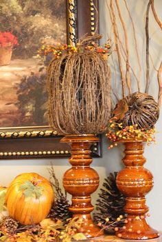 Savvy Seasons by Liz: Fall Mantle -Yes, I'm decorating for Fall!