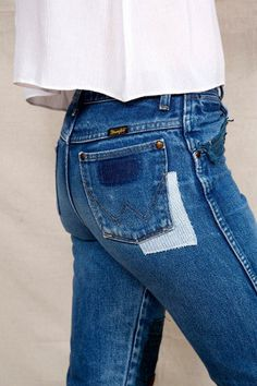 HYM Salvage X Urban Renewal Embroidered Patch Jean #urbanoutfitters