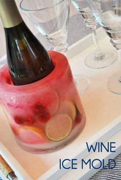 wine ice mold! love this idea