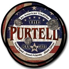Purtell Family Name Drink Coasters - 4pcs - Wine Beer Coffee & Bar Designs #ZuWEE #FathersDayBirthdayWeddingHousewarming