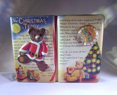 The Christmas Teddy Tin   Story Book   Bears   Trees
