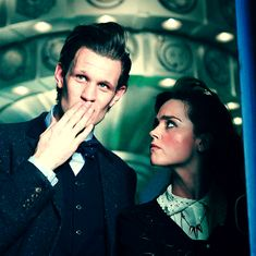 Clara and the Doctor Matt Smith Doctor Who, I Am The Doctor, Eleventh Doctor, Clara Oswald, Don't Blink, Jenna Coleman, David Tennant, How To Run Faster, Dr Who
