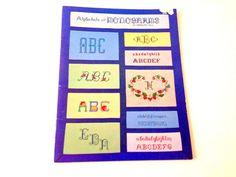 Cross Stitch Pattern Backstitch Alphabet Monogram by 2Fun4Words