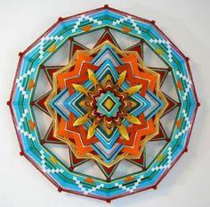 Yarn art mandala
