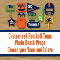 Custom Football Party Decorations and Photo Booth by OldMarket, $15.00