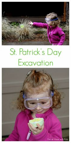 St. Patrick's Day Gold Excavation from Fun at Home with Kids
