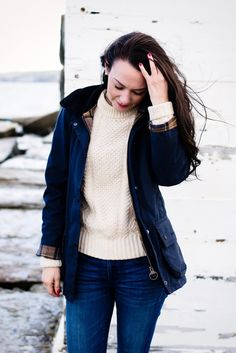Rockport, Maine - Carly the Prepster Casual Preppy Outfits, Outfits Otoño, Winter Outfits, Work Outfits, Sandro, Prep Style, My Style, Curvy Style, Estilo Preppy