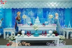 Frozen themed birthday party with Lots of Cute Ideas via Kara's Party Ideas!